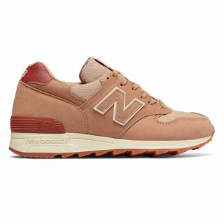 New Balance 1400 Made in US Womens Chunky Trainers Apricot Burgundy (KBFL4104)