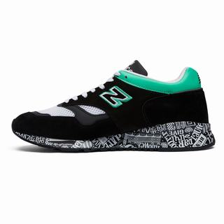 New Balance 1500 London Edition Mens Chunky Trainers Black White Turquoise (VHWI4856)