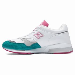 New Balance 1500 Made in UK Mens Casual Shoes White Turquoise Pink (GKVO4655)