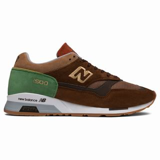 New Balance 1500 Made in UK Mens Casual Shoes Brown Green (DAFN8107)