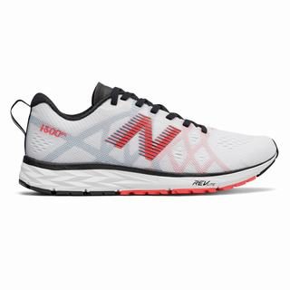 New Balance 1500v4 Womens Running Shoes White Red Black (ICRX3422)