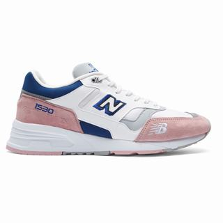 New Balance 1530 Made in UK Mens Chunky Trainers White Pink Blue (GNTS5847)