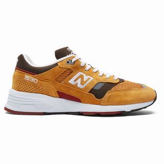 New Balance 1530 Made in UK Mens Chunky Trainers Gold Brown (JGZM5875)