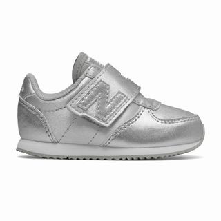 New Balance 220 Glitter Kids Casual Shoes Silver White (ZSTY7243)