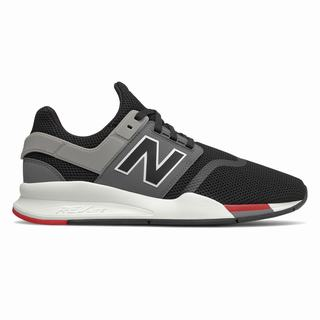New Balance 247 Mens Casual Shoes Black Grey Red (IBNV4716)