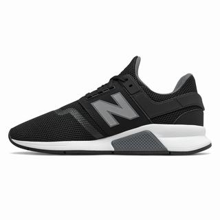New Balance 247 Mens Casual Shoes Black Silver (HAUN7351)