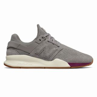 New Balance 247 Mens Casual Shoes Grey Claret (BFKN7116)