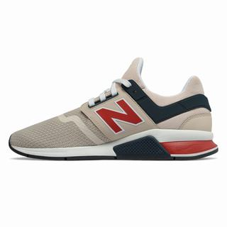 New Balance 247 Mens Casual Shoes Grey Red (JAOG3548)