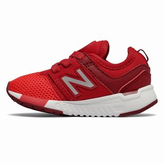 New Balance 247 Sport Kids Casual Shoes Red Silver (CGZW4284)