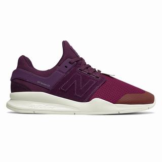 New Balance 247 Time Zone Mens Casual Shoes Purple Purple Deep Red (VFME2724)