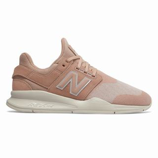 New Balance 247 Womens Casual Shoes Pink Tan Beige (YEGW4840)