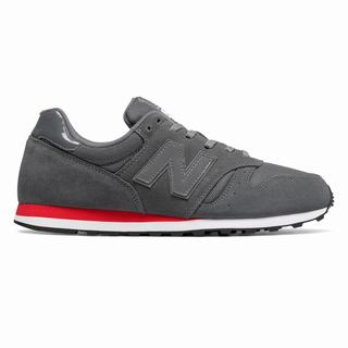 New Balance 373 Modern Classics Mens Casual Shoes Grey Red (OPJQ4575)