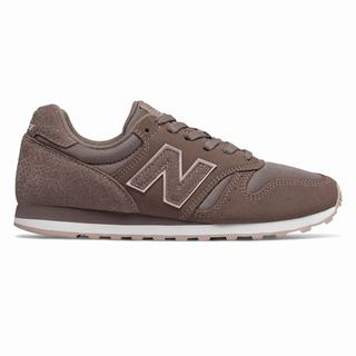 New Balance 373 Suede Womens Casual Shoes Chocolate Pink (AGVB3464)
