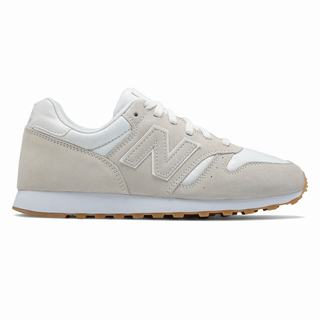 New Balance 373 Suede Womens Casual Shoes White Grey (GJAZ2676)