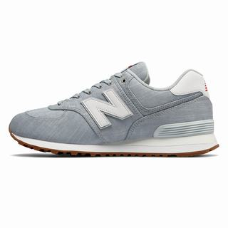 New Balance 574 Beach Chambray Mens Casual Shoes Light Blue White (VYUG5713)