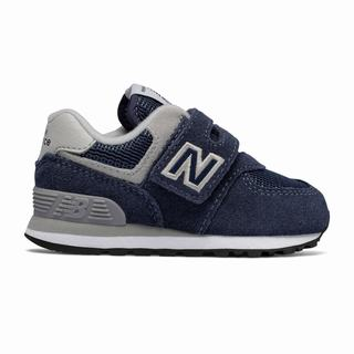 New Balance 574 Core Kids Casual Shoes Navy Grey (QFTR7134)