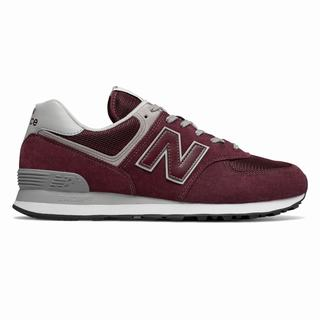 New Balance 574 Core Mens Casual Shoes Burgundy (CMNF1793)