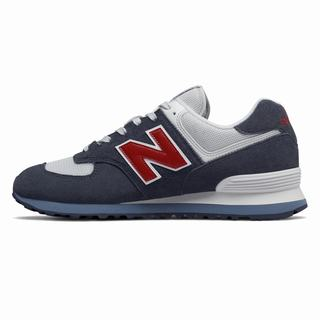 New Balance 574 Core Plus Mens Casual Shoes Navy Red (PJLF1389)