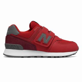 New Balance 574 Day and Night Kids Casual Shoes Red Black (MUSB9386)