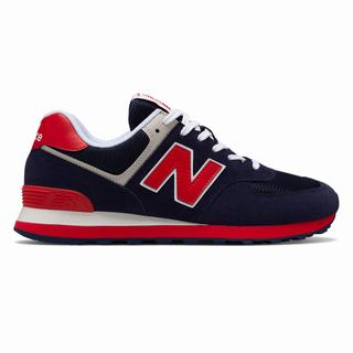 New Balance 574 Essentials Mens Casual Shoes Navy Red (WBVM7607)