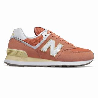 New Balance 574 Essentials Womens Casual Shoes Copper Orange (LGWT6114)