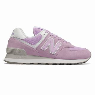 New Balance 574 Essentials Womens Casual Shoes Purple White (ESGR4549)