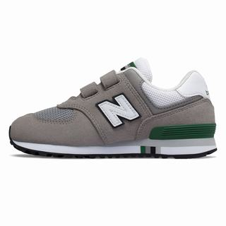 New Balance 574 Kids Casual Shoes Grey Green (DOYM6647)
