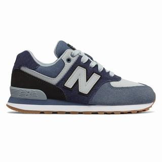 New Balance 574 Kids Casual Shoes Navy Black (UWMN5332)