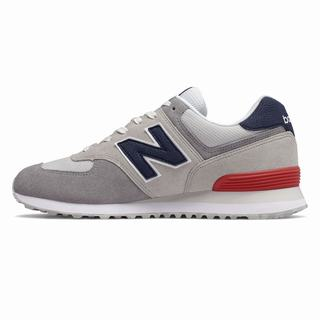 New Balance 574 Marbled Street Mens Casual Shoes Light Grey Red (GWNU7974)