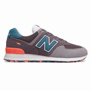 New Balance 574 Marbled Street Mens Casual Shoes Light Purple Orange (LDFE6178)