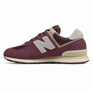 New Balance 574 Mens Casual Shoes Burgundy Grey Grey (SPVC3847)