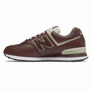 New Balance 574 Mens Casual Shoes Dark Red White (OLSZ4321)