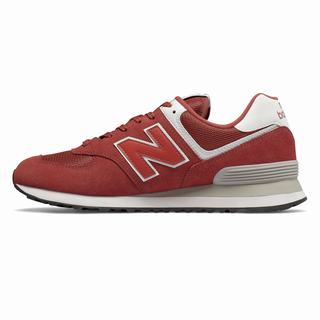 New Balance 574 Mens Casual Shoes Dark Red White (DAMC4834)
