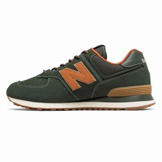 New Balance 574 Mens Casual Shoes Green Orange (SMNA9764)