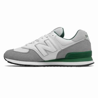 New Balance 574 Mens Casual Shoes Grey Green (BCGJ7440)