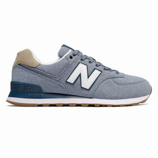 New Balance 574 Mens Casual Shoes Light Grey Blue (ZWFL6091)