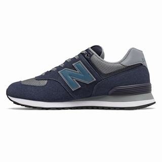 New Balance 574 Mens Casual Shoes Navy Grey (UAKF2493)
