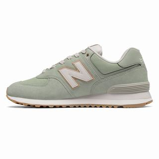 New Balance 574 Natural Outdoor Mens Casual Shoes Silver Mint Green (LMOS8450)