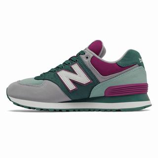 New Balance 574 Outdoor Patch Womens Casual Shoes Deep Green Grey Purple (FPJW6102)