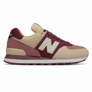 New Balance 574 Outdoor Patch Womens Casual Shoes Burgundy Dark Pink (GYFZ1184)