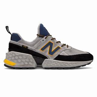 New Balance 574 Sport Mens Casual Shoes Grey Black (ZGNS7754)
