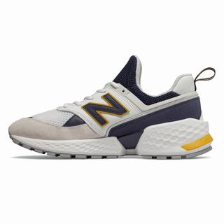 New Balance 574 Sport Mens Casual Shoes White Navy (JIYN3144)