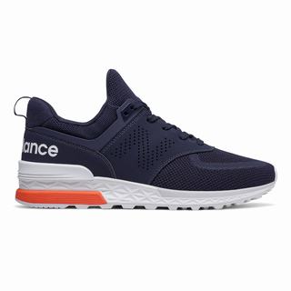 New Balance 574 Sport Mens Casual Shoes Navy (RJXD1124)