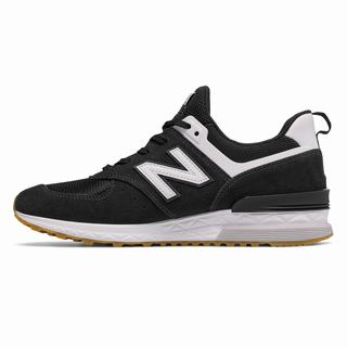 New Balance 574 Sport Mens Casual Shoes Black White (AREK4035)