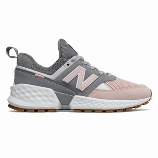 New Balance 574 Sport Mens Casual Shoes Grey Pink (JTAC3358)