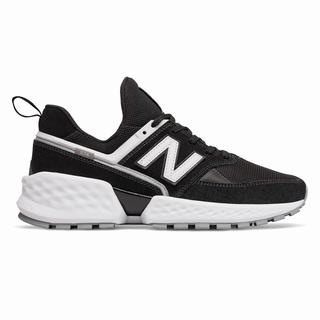New Balance 574 Sport Mens Chunky Trainers Black White (UPNQ3588)