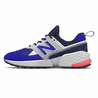 New Balance 574 Sport Mens Chunky Trainers White Blue (LMBN5128)