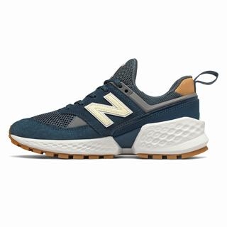 New Balance 574 Sport Womens Casual Shoes Deep Blue White (ZCMX8111)