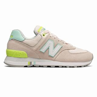 New Balance 574 Summer Shore Womens Casual Shoes Pink Light Green (JQMR6018)