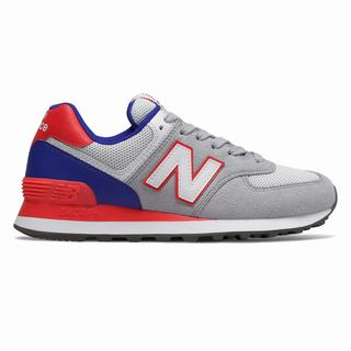 New Balance 574 Summer Sport Womens Casual Shoes Grey Red (QYIU9861)
